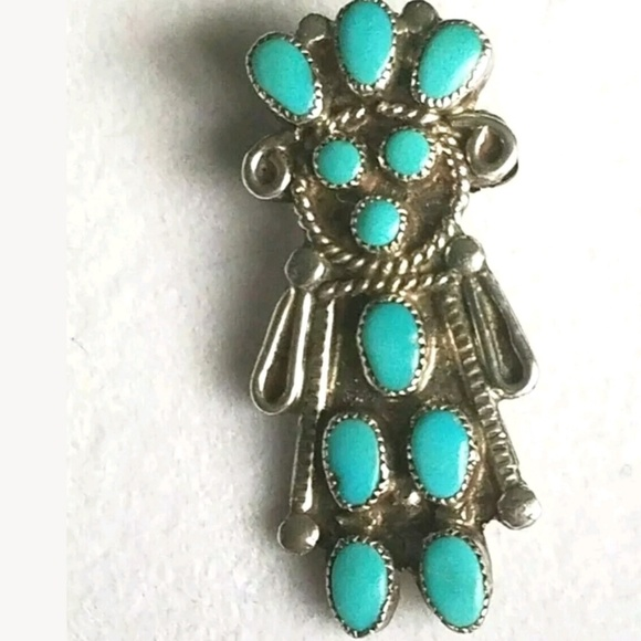19313e5f0c7 Vintage Jewelry | Zuni Navajo Turquoise Sterling Silver Pendant ...